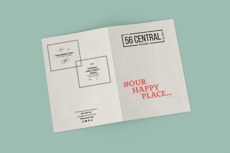 Outer Cover Of The 56 Central Menu Designed In Jul 2019