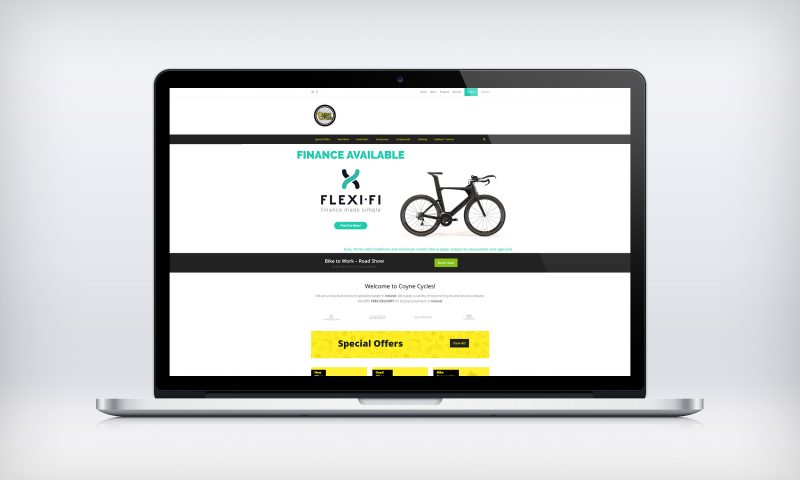 Website Designed For Coyne Cycles