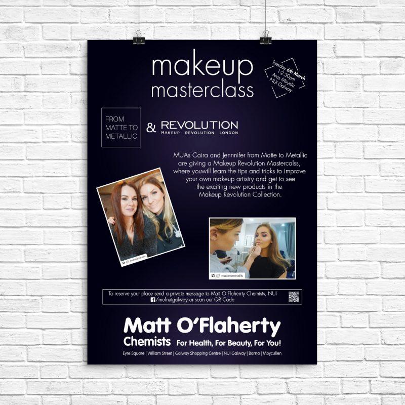 matt makeup masterclass poster – SimplyLogoDesign